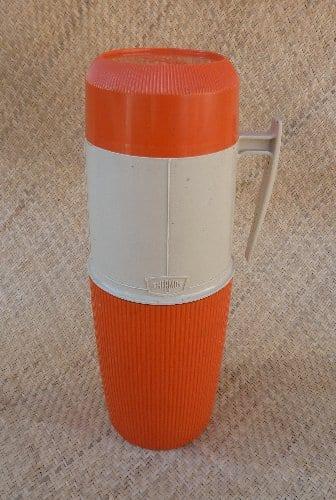 1960 S Orange Thermos Flask Hrtv