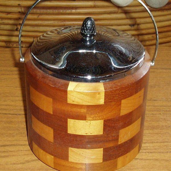 Vintage Wood And Chrome Ice Bucket Hrtv