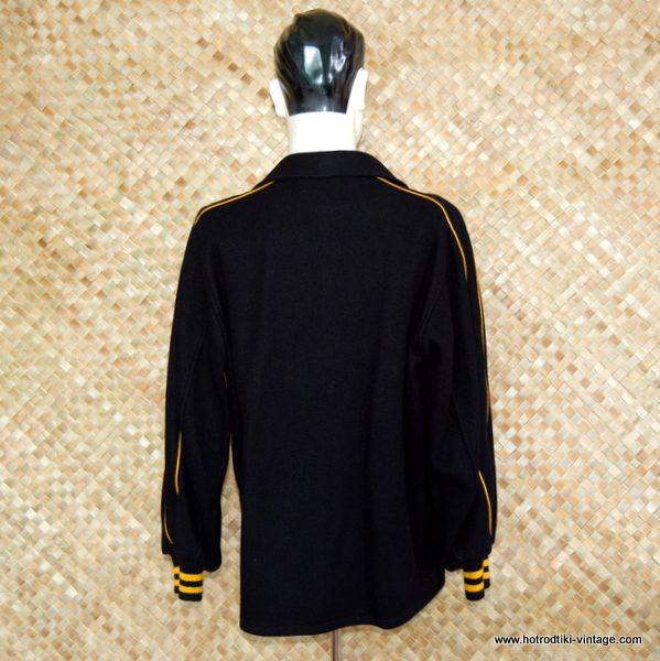 Vintage Men S Heavy Black Car Club Coat Hrtv