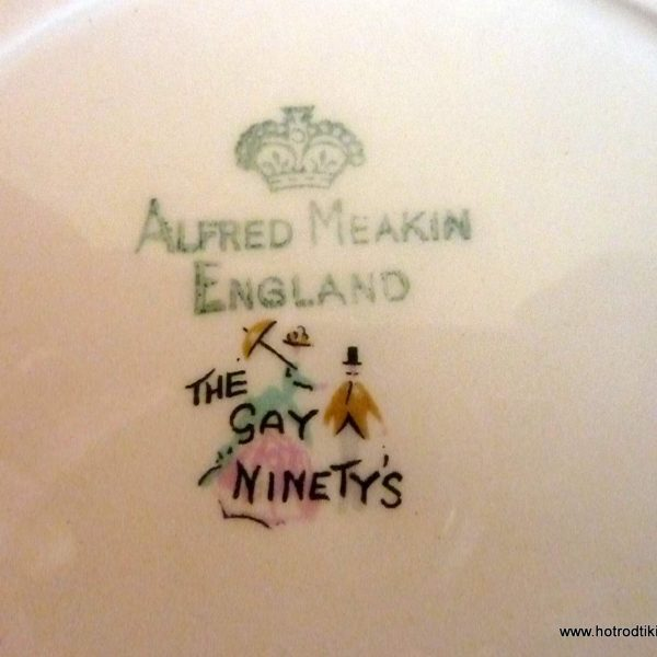1950's Alfred Meakin Pottery 'The Gay Ninetys' Plate - HRTV
