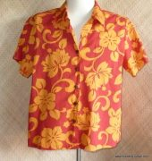 ladies_hilo_hatties_orange_&_red_hawaiian_shirt
