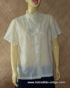 bd3e6a7a77721 ... Cream Ladies Embroidered Blouse.  vintage cream ladies embroidered blousecu1