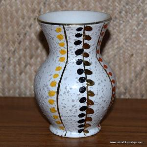1950's Foreign Small Vase with Colourful Dots 1
