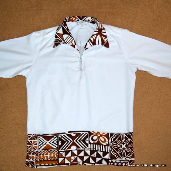 da767b5a 1960's Vintage Mens 'Chapmans' White Hawaiian Shirt - HRTV