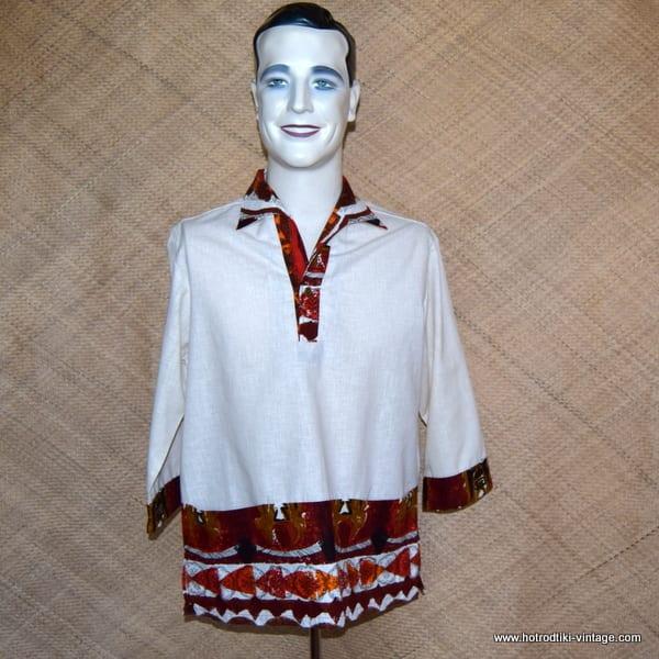 e3e48e8fd 1960's Vintage Mens 'Iolani' Cream Hawaiian Shirt - HRTV