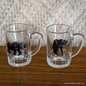 Pair of 1950's Animal Handled Glasses 1