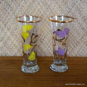 Set of 2 1950's Vintage Hi-Ball Glasses 1
