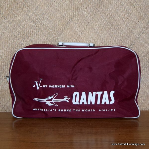 Sac de vol Qantas avec photo V Jet