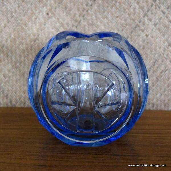 Vintage Heavy Light Blue Cut Glass Vase Hrtv
