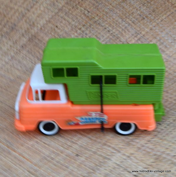 Vintage American Plastic Pick Up Truck With Camper Toy Hrtv