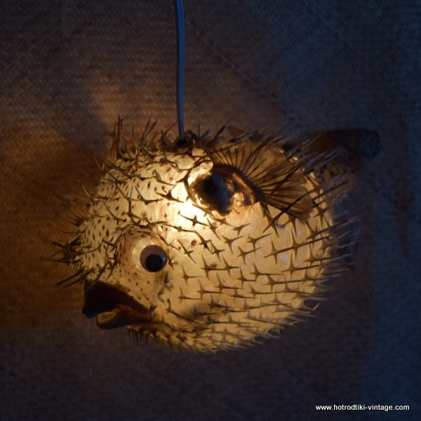 Charming ... Vintage Style Large Puffer Fish Lamps 2 ...