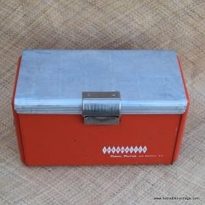 Vintage Thermaster Red Cool Box 1