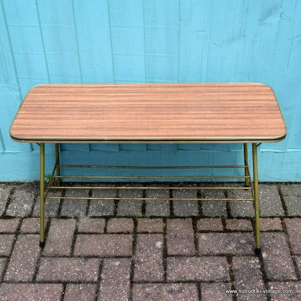 1960 39 s vintage brown formica coffee table hrtv Formica coffee table