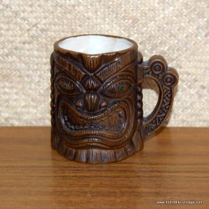 1960's Vintage Treasure Craft Style Handled Tiki Mug 1