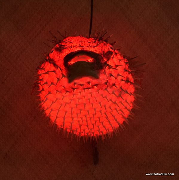 Vintage style puffer fish lamp red extra large 18 for Puffer fish lamp