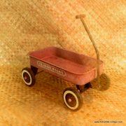 Vintage Classic Wagon Red Metal Wagon 3