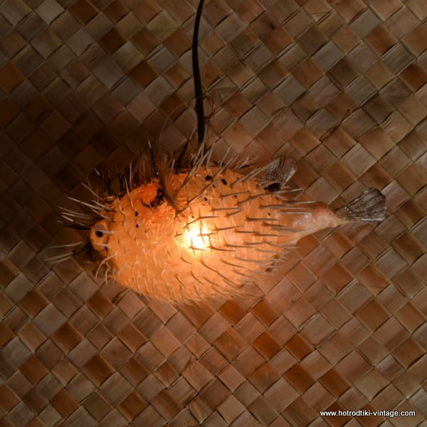 Vintage Style Puffer Fish Lamp small 2