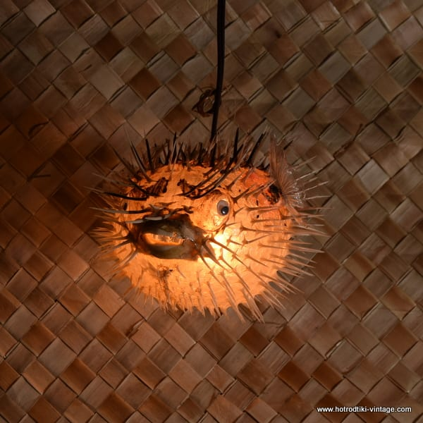Vintage style puffer fish lamp clear medium 10 for Puffer fish lamp