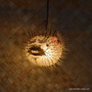 Vintage Style Puffer Fish Lamp small 6