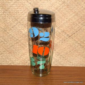 1960's Whats Your Number Cocktail Shaker American 1