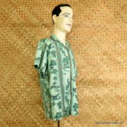 1960's Mens Green Hawaiian Cotton Shirt 2