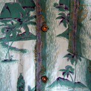 1960's Mens Green Hawaiian Cotton Shirt 6