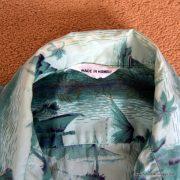 1960's Mens Green Hawaiian Cotton Shirt 7