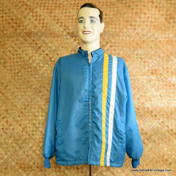 1960's Mens Light Blue Lined Race Jacket 1