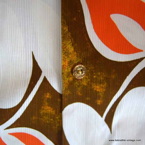e9edca02 ... 1960's Mens Royal Hawaiian Brown & Orange Hawaiian Shirt 6; 1960's ...