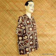 1960's Mens Ui-Maikai Brown Hawaiian Shirt 3