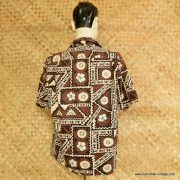 1960's Mens Ui-Maikai Brown Hawaiian Shirt 5