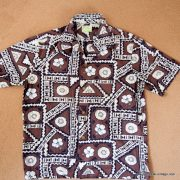 1960's Mens Ui-Maikai Brown Hawaiian Shirt 9