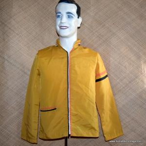 Vintage Mens Mustard Race Style Jacket with Hood 1