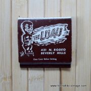 Vintage The Luau Matchbook 1
