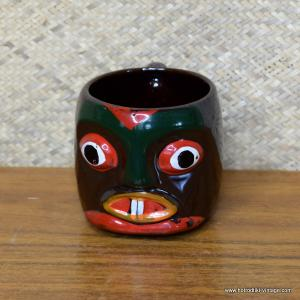 Vintage Painted Handled Tiki Mug 1