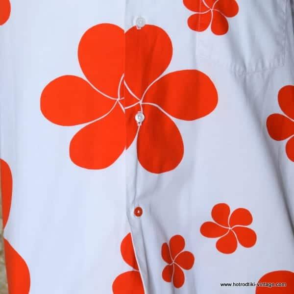 ed5d47bd9 1960's Vintage Mens 'Mauna Kea Beach Hotel' Orange & White Hawaiian ...