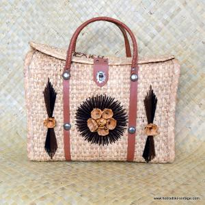 1960's Ladies Mexico Straw Bag 1