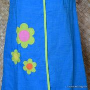 1960's Ladies Vintage Capus Girl Blue Dress with Large Flowers 3