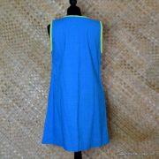 1960's Ladies Vintage Capus Girl Blue Dress with Large Flowers 7