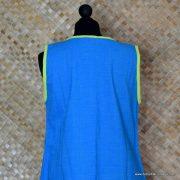 1960's Ladies Vintage Capus Girl Blue Dress with Large Flowers 8