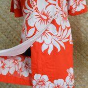 1960's Ladies Vintage Hawaiian Surf Red & White Dress 3