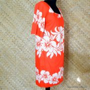 1960's Ladies Vintage Hawaiian Surf Red & White Dress 4