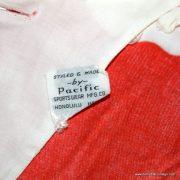 1960's Ladies Vintage Hawaiian Surf Red & White Dress 8