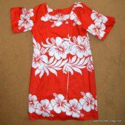 1960's Ladies Vintage Hawaiian Surf Red & White Dress 9