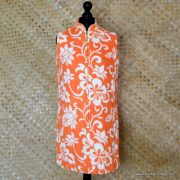 1960's Ladies Vintage Orange & White Towelling Dress Cover up 1