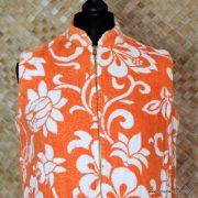 1960's Ladies Vintage Orange & White Towelling Dress Cover up 3