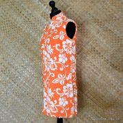 1960's Ladies Vintage Orange & White Towelling Dress Cover up 6