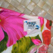 1960's Ladies Vintage Pacific Isle Pink & Orange Hawaiian Dress 9