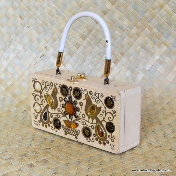 ce25dc1b0f ... 1960 s Vintage Enid Collins Money Tree Wooden Box Bag 5 ...