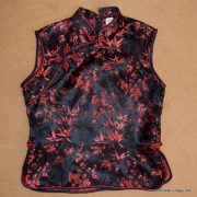 Ladies Vintage Style Chinese Satin Top 9